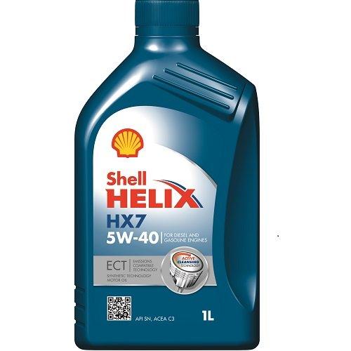 Olio Shell Helix HX7 ECT 5W-40 - Lubrificante per motori Diesel 1 litro