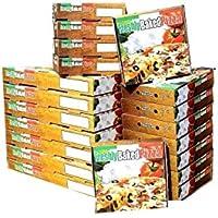 Pizza Style Boxen zum Mitnehmen, Fast Food, Mehrzweck, verschiedene Farben, 100 Stück