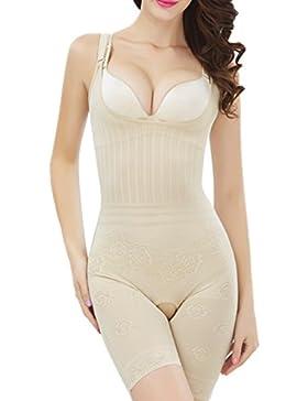 HEYME Mujer Lencería Moldeadora Body Faja Modeladora Reductora Cómodo Sin Maganas y Costuras Bodysuit de Cintura...