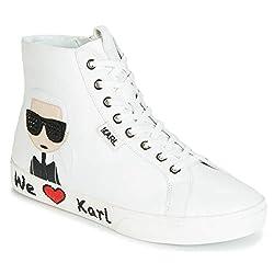 Karl Lagerfeld Skool Karl Ikonic Hi Lace Weiß Damen Sneakers-UK 6