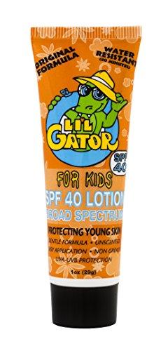 Aloe Gator Gator Lil 1 Unze Sonnenschutz - Waterproof Kids SPF 40 Sun Care (Lotion Outdoor-tanning)