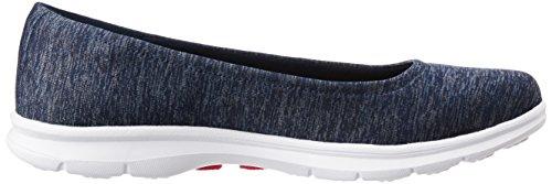 SKECHERS Go Step-Challenge Damen Sneaker Slipper schwarz Marine / Weiß