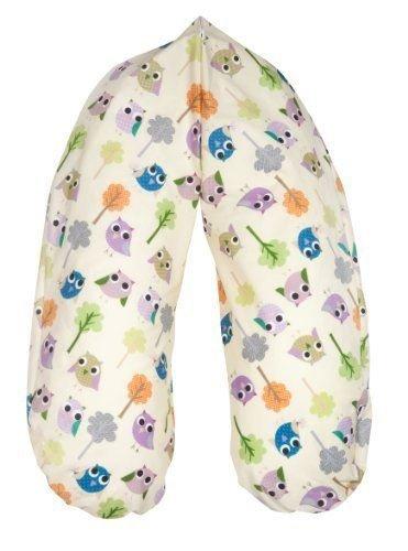 Joyfill Stillkissen Waschbarer Bezug für Flexofill Schwangerschaftskissen 170x34cm - 590 Bäumchen Eule beige