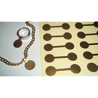 Schmuck, rund, goldfarben, 1000 Etiketten/Handausz/Apportierspielzeug für Hunde, Kurzhantel-Design, quiekend, Etiketten