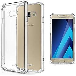 Moozy Coque Silicone Transparente pour Samsung A5 2017 - Anti Choc Crystal Clear Case Cover Étui de Flexible Souple TPU