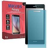Lámina de protección Mikvon Privacy azul contra miradas laterales para Huawei Ascend P7 Arsenal Edition - PREMIUM QUALITY