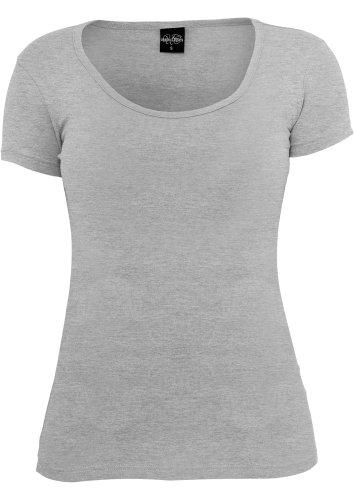 URBAN CLASSICS Ladies Basic Tee, grey Grey