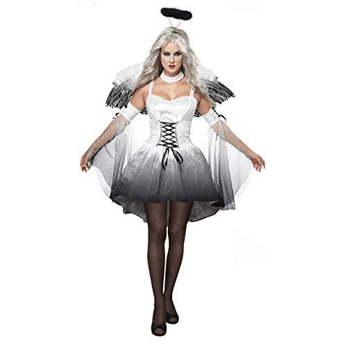 MCKEYEN Halloween-Party Kleidung weibliche Erwachsene Maskerade Halloween kostüm Engel dämon kostüm Rolle Spielen Kleid - Mädchen Ninja Kostüm Muster