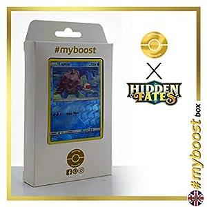 Lapras 17/68 Holo Reverse - #myboost X Sun & Moon 11.5 Hidden Fates - Box de 10 cartas Pokémon Inglesas
