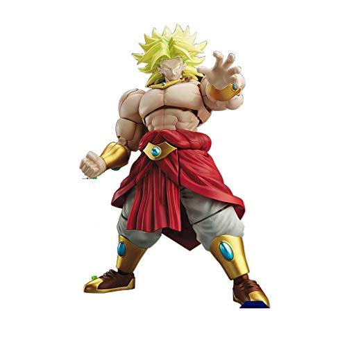 TLMYDD Spielzeug-Modell Anime-Figuren Dragon Ball Kampfkunst Montage Ornamente Souvenirs/Sammlerstücke/Kunsthandwerk Broly 18cm Spielzeugstatue