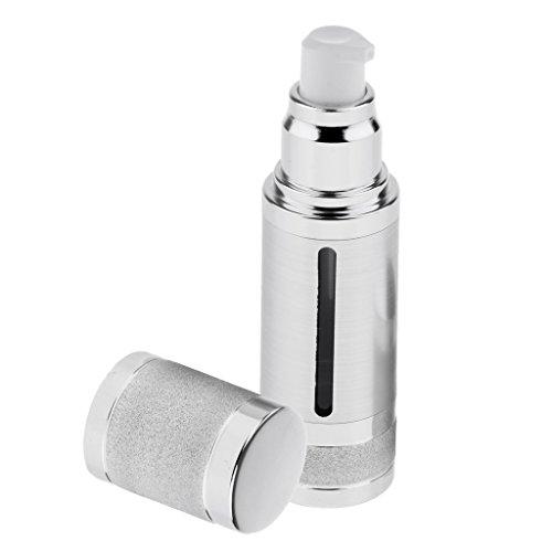 SM SunniMix 30ml Leer Nachfüllbar Pumpeflasche Gel Spender Kosmetik Behälter aus Kunststoff - Silber -