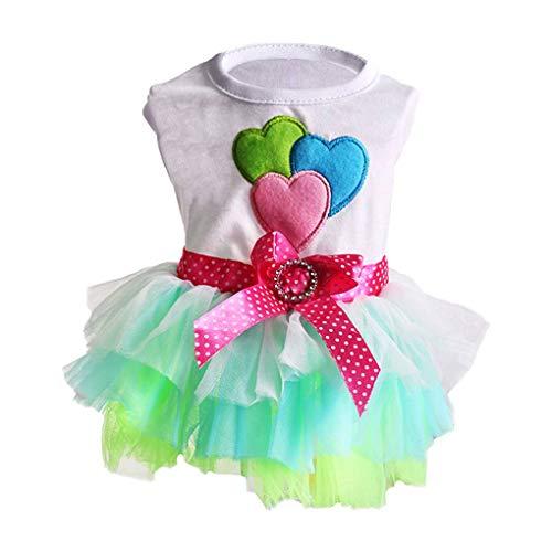 Floridivy Netter Hund/Katze-Haustier-Kleid Bowknot Luftblasen-Rock-Prinzessin Dress Kleidung Puppy ()