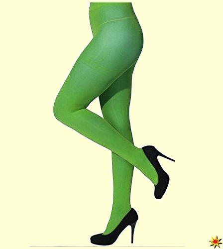 Preisvergleich Produktbild Damen Strumpfhose grün Gr. S / M Fasching Karneval Zubehör blickdicht 60den