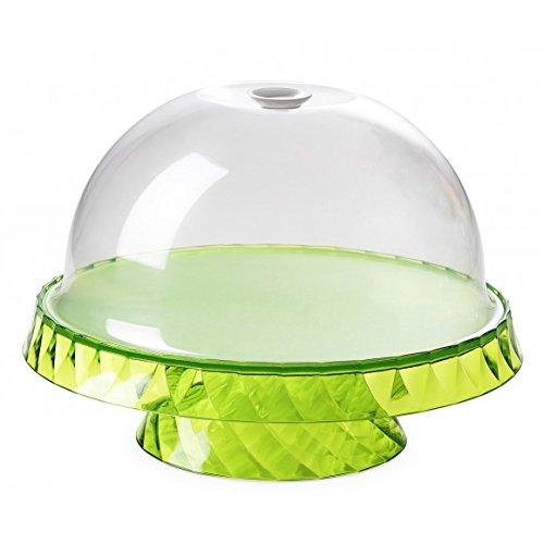 montefioredesign – Présentoir pour gâteaux et fruits diamètre 36 cm avec cloche Vert