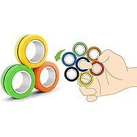 eLUUGIE 3 Packs Magnetic Rings Fidget Toy - Magnetic Bracelet Ring Toy Magical Ring Finger Ring Finger Toy for Party Favor