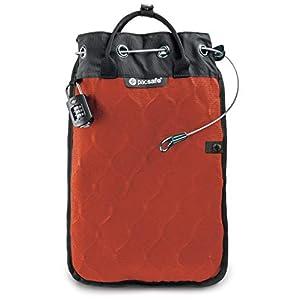 Pacsafe Travelsafe 5L – Mobiler Safe mit TSA-Zahlen Schloß, Trage-Tasche mit Anti-Diebstahl Technologie, 5 Liter Volumen, Orange/Orange