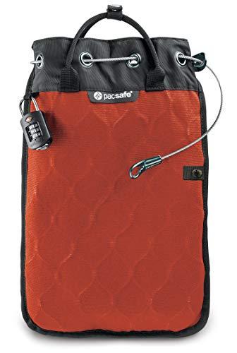 Pacsafe Travelsafe 5L - Mobiler Safe mit TSA-Zahlen Schloß, Trage-Tasche mit Anti-Diebstahl Technologie, 5 Liter Volumen, Orange/Orange -