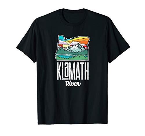 Klamath River Vintage Oregon Nature & Outdoors Retro Graphic T-Shirt -