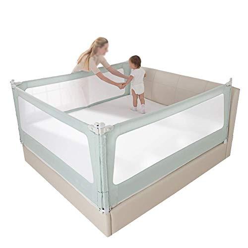 JAZC-Bettgitter Klappbar Bettschutzgitter Mit Perspektiven Netz Kinderbettgitter Fallschutz Bett Für Kinder3er Set Für 3 Seiten (Size : 180x150x88cm)