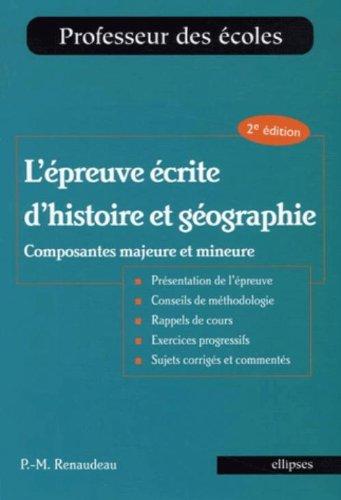 L'épreuve écrite d'histoire et géograph...