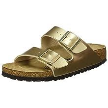 Birkenstock Sandales Arizona Birko-flor® Gold, Women's Sandal, Gold, 2.5 UK (35 EU)