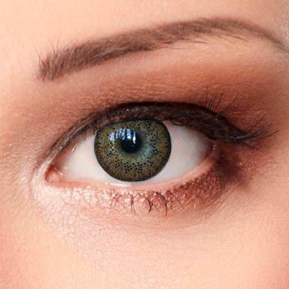 Braune Farbige Kontaktlinsen 3 Monatslinsen mit Stärke -1,50 Design: Natural Brown