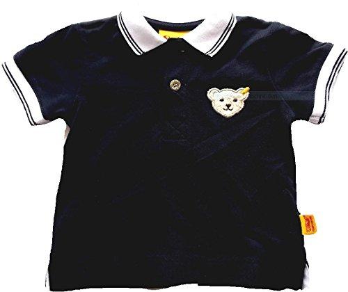 Steiff Baby-Jungen Poloshirt 1/4 Arm, Blau (Marine 3032), 62