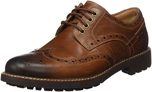Clarks  Montacute Wing Lace-Ups Mens - Dark Tan Leather (8 UK)