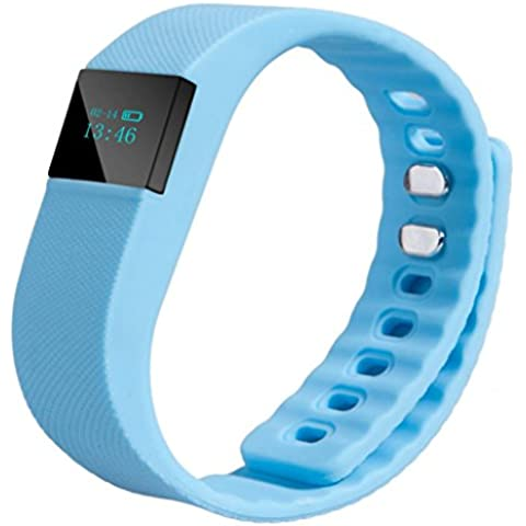 Actividad Tracker, ihee TW643rd G calendario recordar Call contador de pasos deporte Bluetooth reloj de pulsera reloj de pulsera, color azul