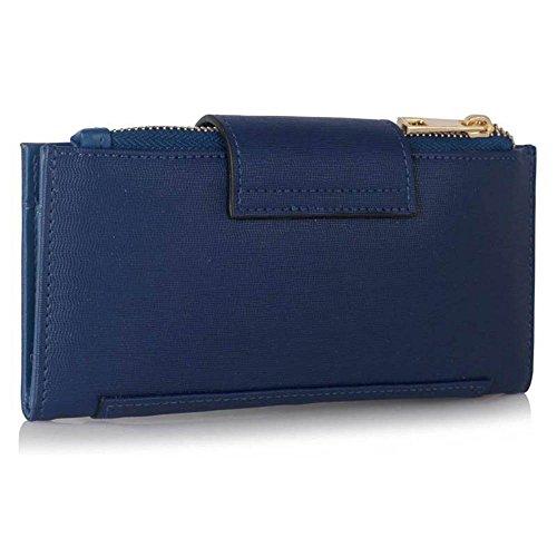 TrendStar Frauen Handtaschen Damen stilvolle Handtasche faux Leder Flap reißen Schliessen Geldbörse Mappen (Nackt/Marine) Marine Geldbörse