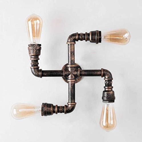 Preisvergleich Produktbild Retro Wandleuchte Kreative Metall-Wasserpfeifen-Stil-Wandleuchte Antike industrielle Steampunk-Wandleuchte mit E26 / 27-Glühlampe (Color : G)