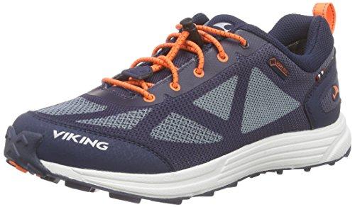 Viking Unisex-Kinder Svenner Low-Top Blau (Navy/Orange 531)