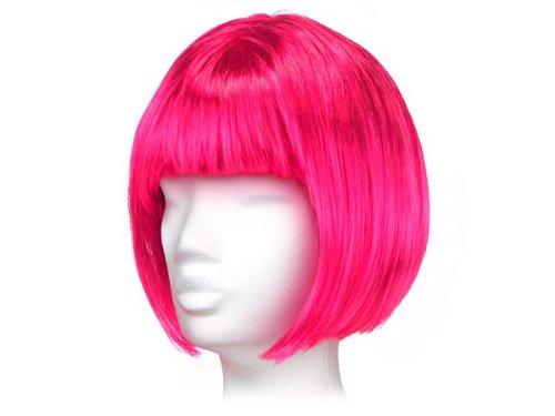 Kurzhaar Fasching Perücke glatt als Bob Haarschnitt alle Farben, Farbe wählen:kurz pink