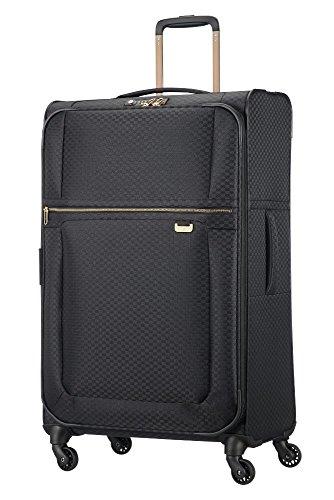 Samsonite Uplite - Spinner 78-29 Erweiterbar 2.7 kg Koffer, 78 cm, 107.5 L, Black/Gold