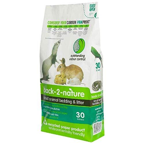 back-2-nature FibreCycle Lecho Papel Higienico Ecologico - Pellets para Cobayas Conejos Hurones Reptiles Pájaros 30000 ml