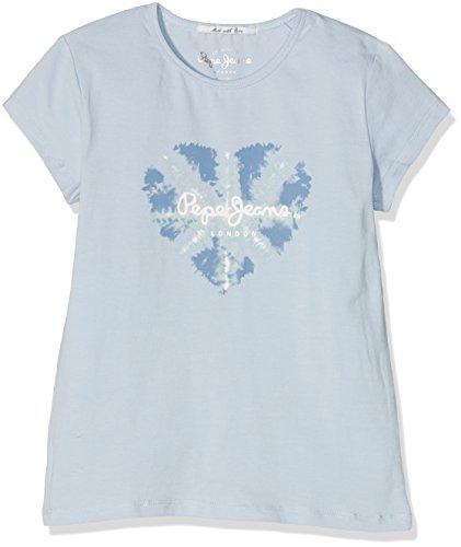 pepe-jeans-celina-t-shirt-fille-bleu-bleach-blue-fr-14-ans-taille-fabricant-14