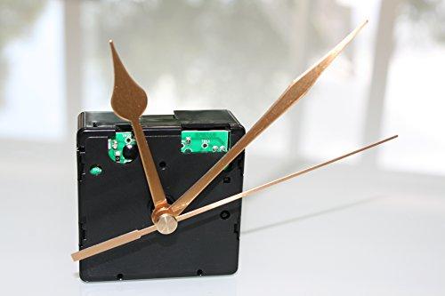 UTS Funkuhrwerk für Ziffernblatt 5-11mm mit Zeigersatz Metall gold Zwiebelform