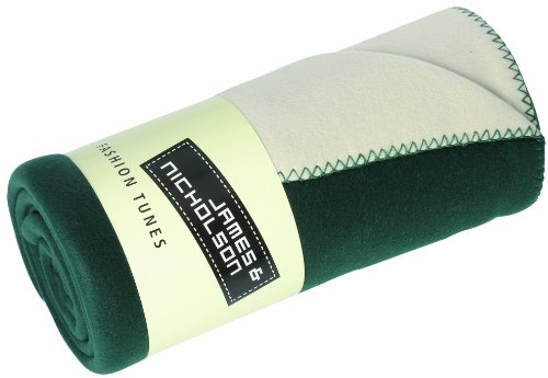 James & Nicholson Fleece Blanket Bonded – Green, 150×170 cm
