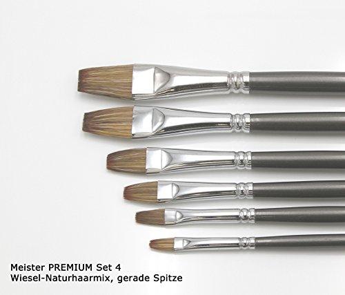 Meister Premium Pinselsets (Set 4 - Wiesel-Mix Gerade)