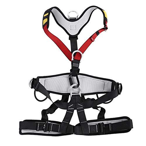 Imbracatura da arrampicata di alta qualità, cintura di sicurezza regolabile a metà corpo, imbracatura da arrampicata, cintura di sicurezza multiuso per arrampicata su roccia, alpinismo, lavoro aereo.