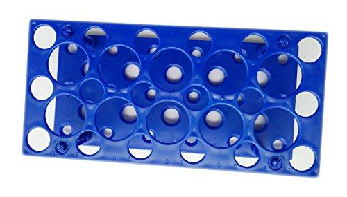 Soporte para tubos de laboratorio de plástico para tubos de 10 ml, 15 ml, 50 ml (paquete de uno),...