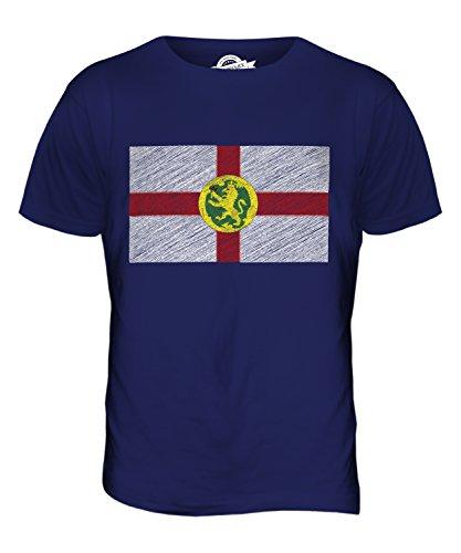 CandyMix Alderney Kritzelte Flagge Herren T Shirt Navy Blau