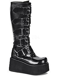 Demonia Knee Boots Trashville-518
