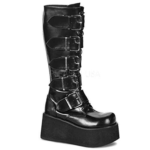 Demonia Knee Boots Trashville-518 mattschwarz Gr. 39,5