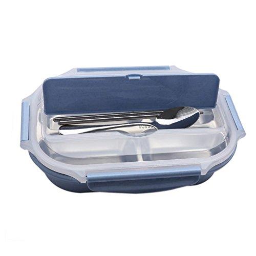 Ritapreaty Lunch Bento Box Edelstahl Thermo-isolierte Lebensmittelbehälter Thermo-Bento für Zuhause und Picknick