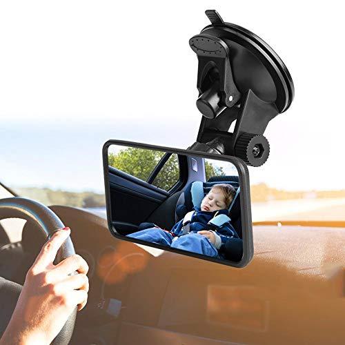 DSFSFFFD Universal Baby Auto Spiegel einstellbar Auto Interior Baby Rückspiegel Kinder Monitor Glas für Sicherheitssitz mit Saug