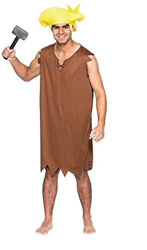 Low Cost Barney Rubble Adult Costume. Standard or X-Large. Become Fred's best friend and neighbour.