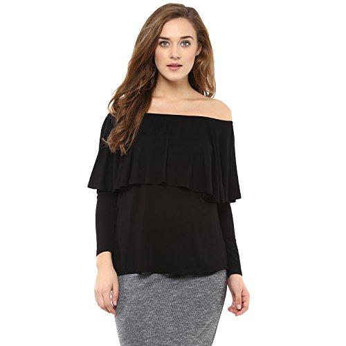 Femella Fashions Black Off Shoulder Top