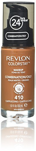 Revlon Colorstay for Combo/Oily Skin Makeup with SoftFlex, Cappuccino 410 1 fl oz (30 ml)