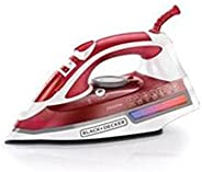 Black & Decker Steam Iron With Non-Stick Plate and Spray Function 2600 Watts - X2210-B5,